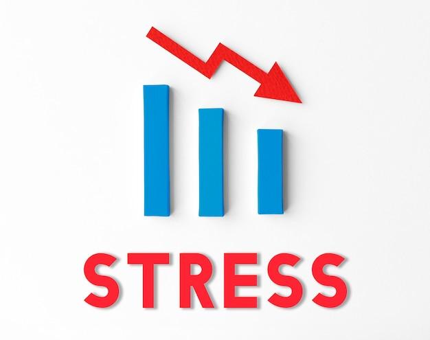 Concepto de fracaso financiero de estadísticas de recesión