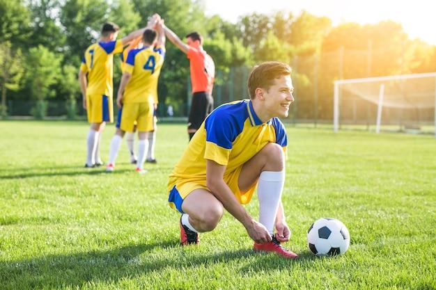 Concepto de fútbol de amateur