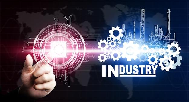 Concepto futurista de la industria 4.0