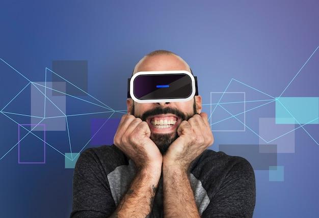 Concepto de gadget de simulación de innovación tecnológica