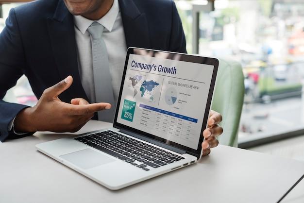 Concepto de la gente de la conexión de la comunicación empresarial