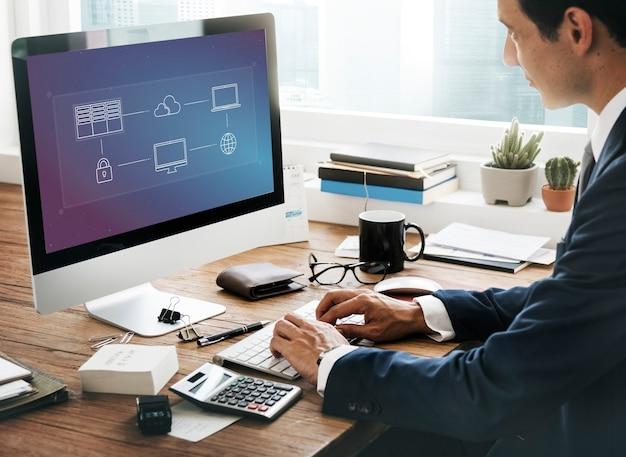 Concepto de gestión de datos de cloud computing