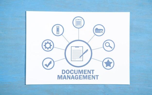 Concepto de gestión de documentos. concepto de negocio