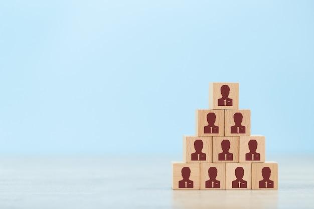 Concepto de gestión de recursos humanos y contratación empresarial.