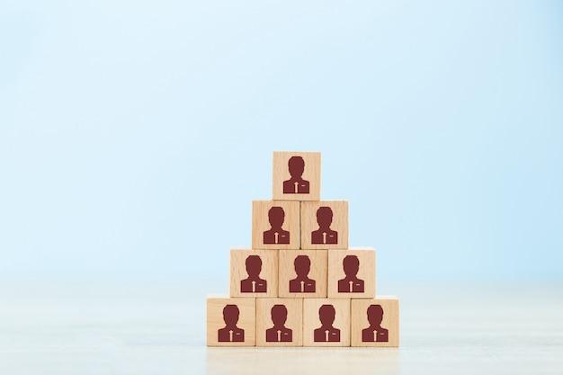 Concepto de gestión de recursos humanos y contratación de empresas.