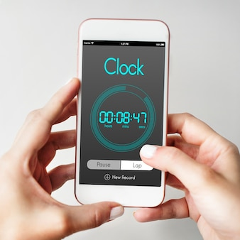 Concepto de gestión del tiempo de reloj despertador