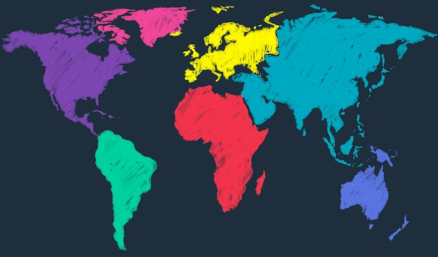 Concepto de globalización internacional global mapa del mundo