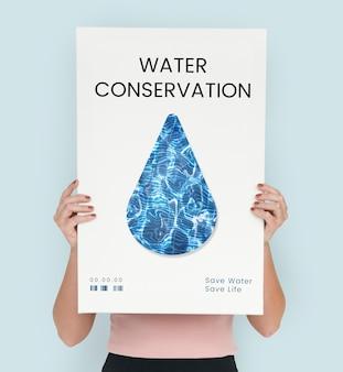 Concepto de gota de conservación de reciclaje de agua