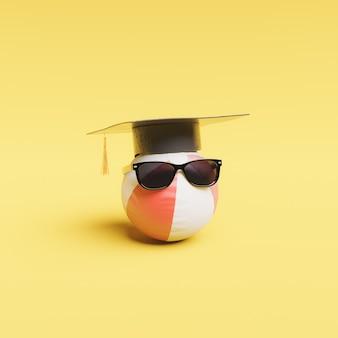 Concepto de graduación de verano