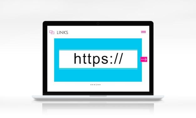 Concepto gráfico del cuadro de búsqueda de enlaces de sitios web http www