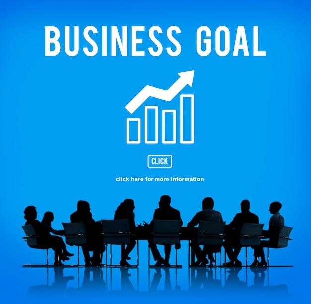 Concepto de gráfico de informe de éxito empresarial