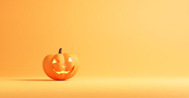 Concepto de halloween, calabaza en colores naranja.
