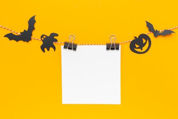 Concepto de halloween espeluznante de vista superior