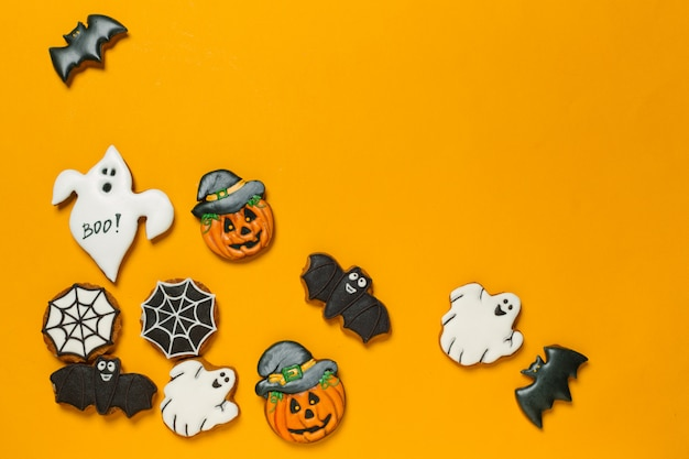 Concepto de halloween con galletas