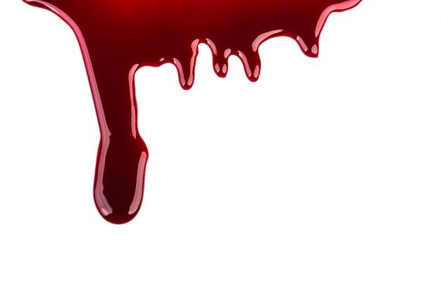 Concepto de halloween: el goteo de sangre