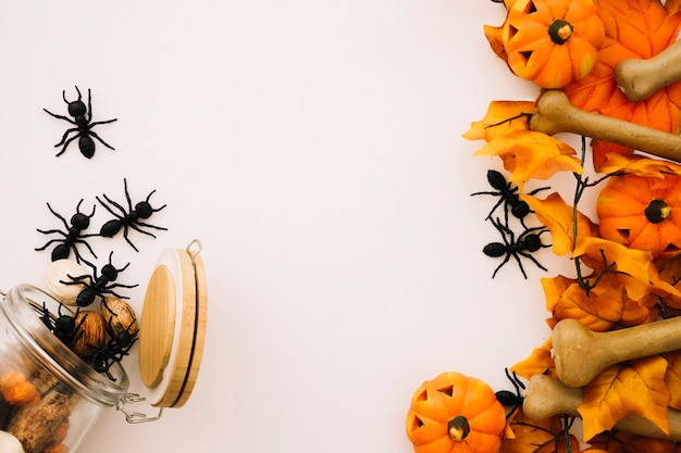 Concepto de halloween con hormigas