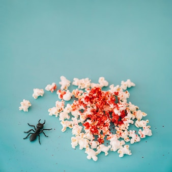 Concepto de halloween con palomitas