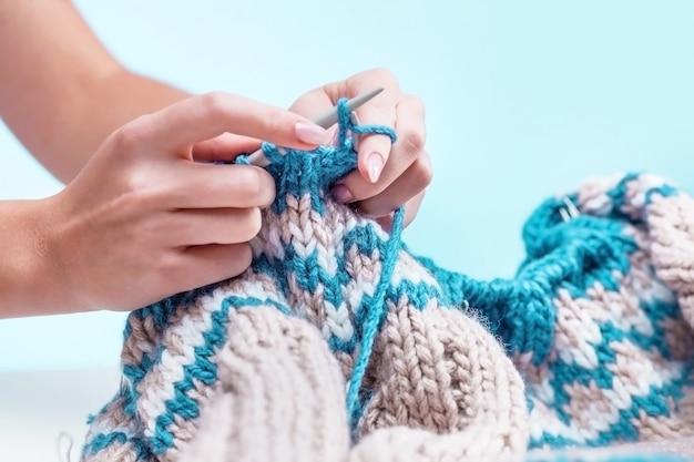 Concepto de hobby tejer