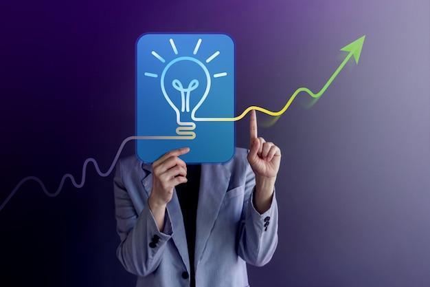 Concepto de ideas, creatividad e innovación.