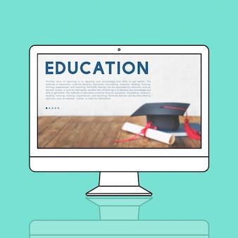 Concepto de ideas de la escuela de información de educación