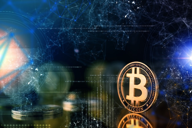 Concepto de ideas de estrategia de negocio de criptomoneda de cadena de bloque