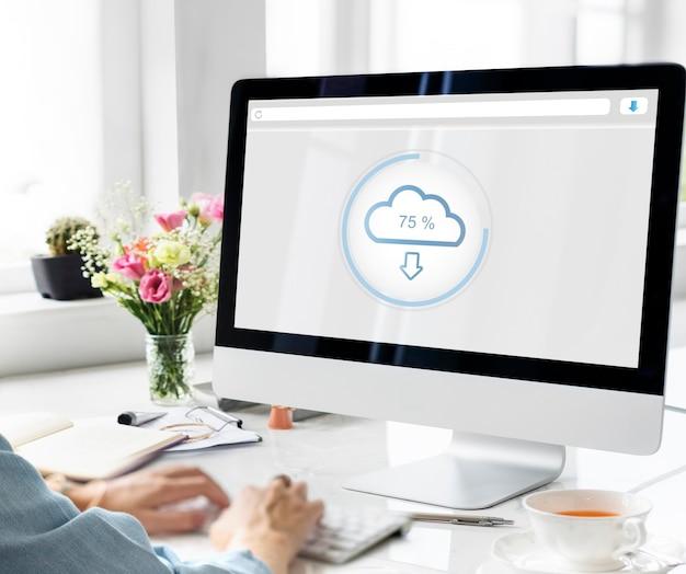 El concepto de información de datos de almacenamiento en la nube