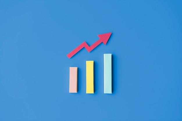 Concepto de información de diagrama de análisis de estrategia de estadística