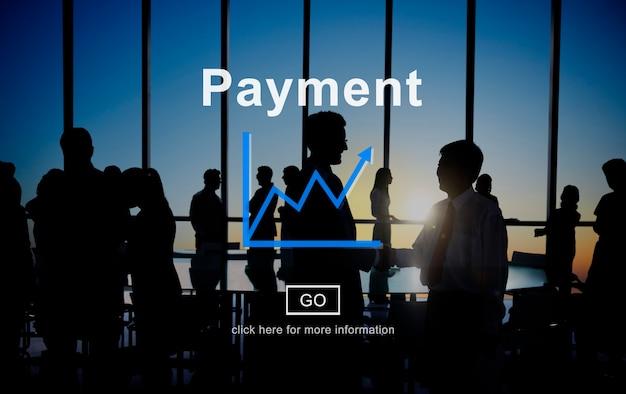 Concepto de ingresos de ganancias de financiación de pago
