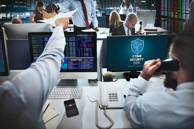 Concepto de interfaz de firewall de protección de seguridad cibernética