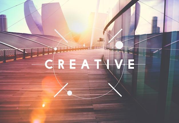 Concepto de invención de pensamiento de creatividad creativa
