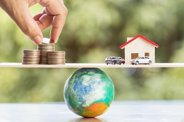 Concepto de inversión inmobiliaria empresarial