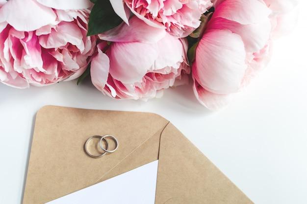 Concepto de invitación de la boda