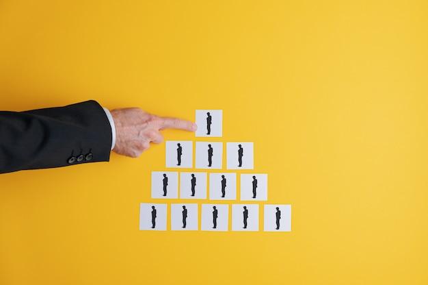 Concepto de jerarquía empresarial