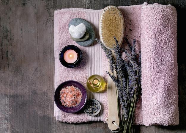 Concepto de lavanda spa