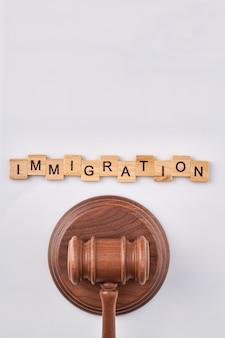 Concepto de ley de inmigración.