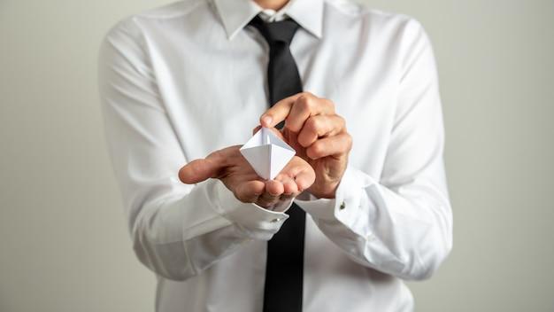 Concepto de liderazgo y puesta en marcha empresarial