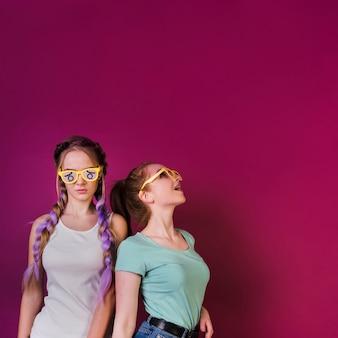 Concepto de lifestyle de amigas adolescentes