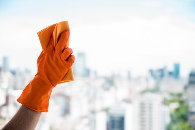 Concepto de limpiar ventana