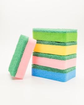 Concepto de limpieza con esponja
