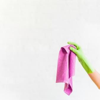 Concepto de limpieza del hogar con trapo