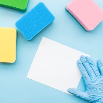 Concepto de limpieza con papel