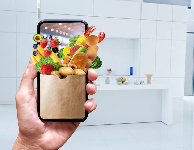 Concepto en línea de entrega de alimentos
