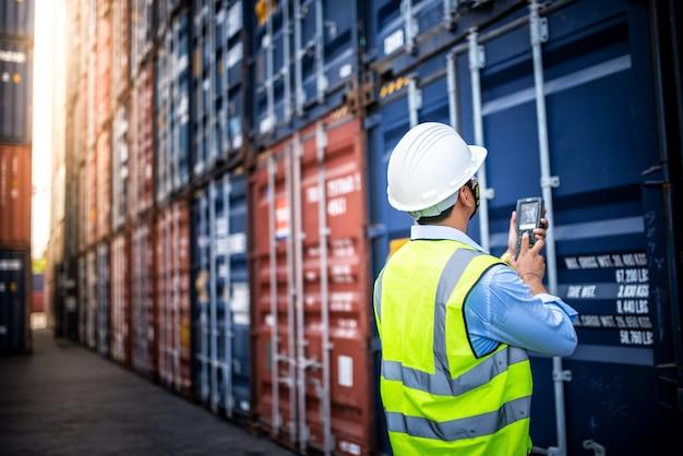 Concepto de logística empresarial, concepto de importación y exportación