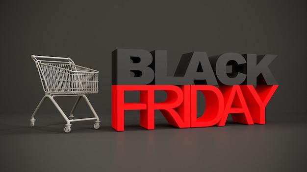 Concepto de logo de viernes negro sobre fondo negro