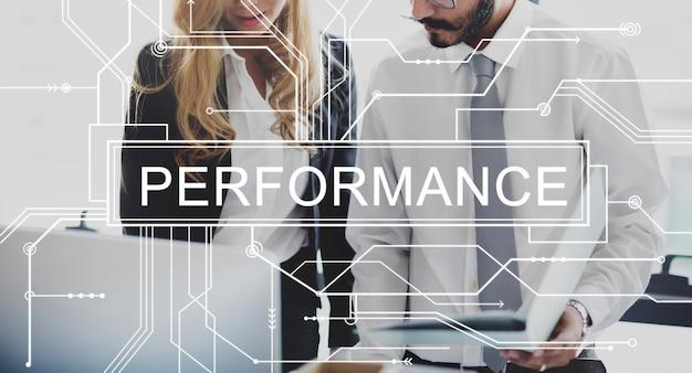 Concepto de logro de experiencia de habilidad de rendimiento