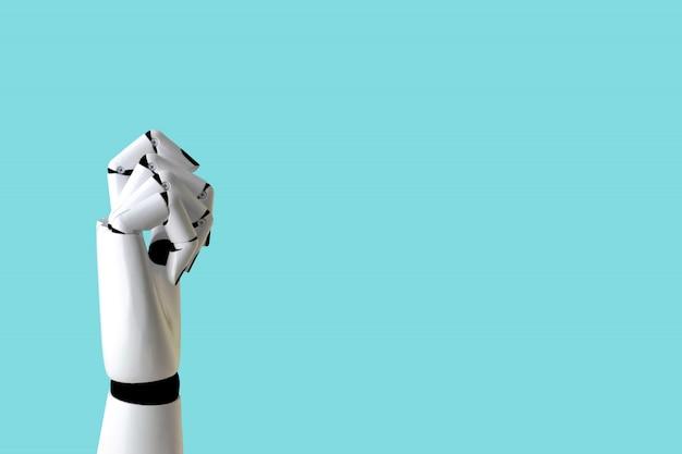 Concepto de mano de robot en la industria y tecnología robótica.