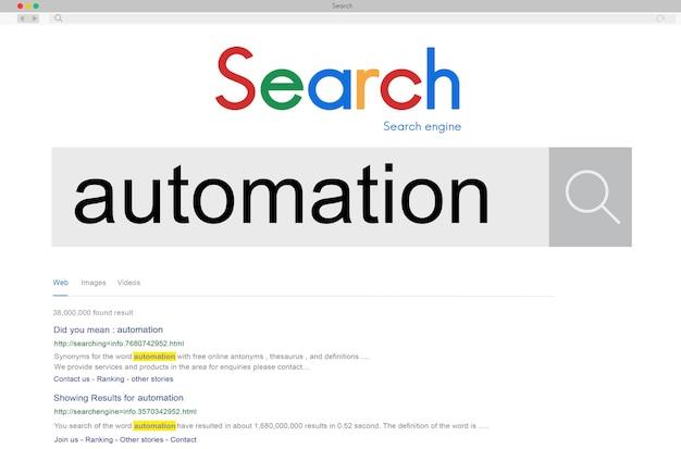 Concepto de máquina de tecnología moderna de automatización