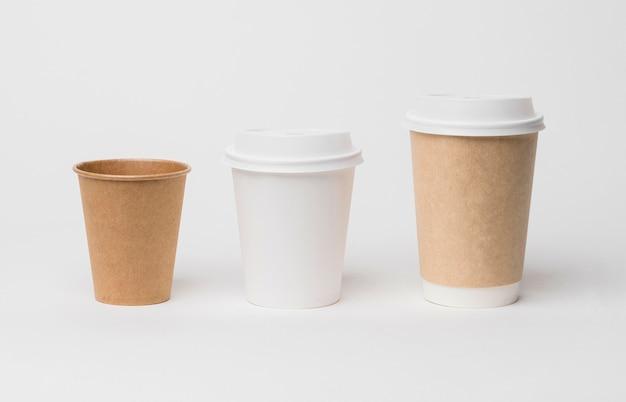 Concepto de marca de café con tazas