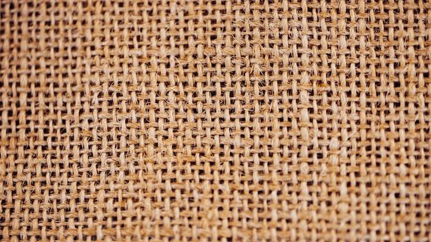 Concepto de material de arpillera.
