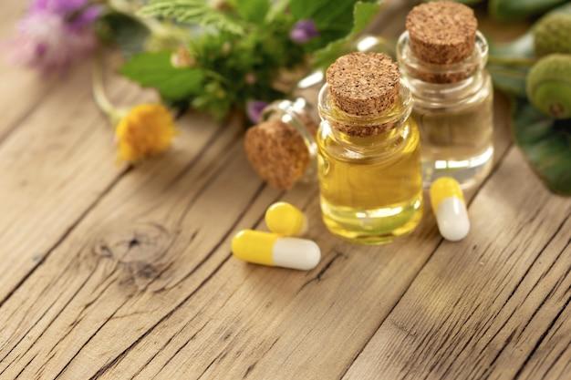 Concepto de medicina herbal natural